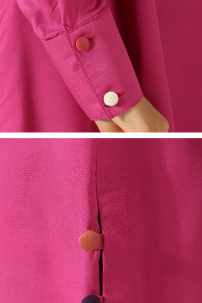 Colorful Button Tunic