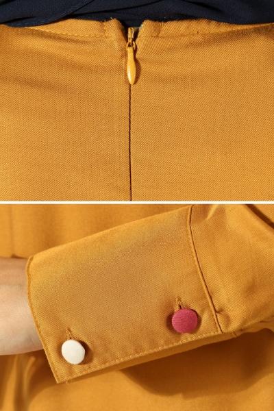 Colorful Button Tunic