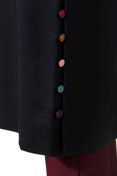 Viskon Renkli Düğmeli Tunik