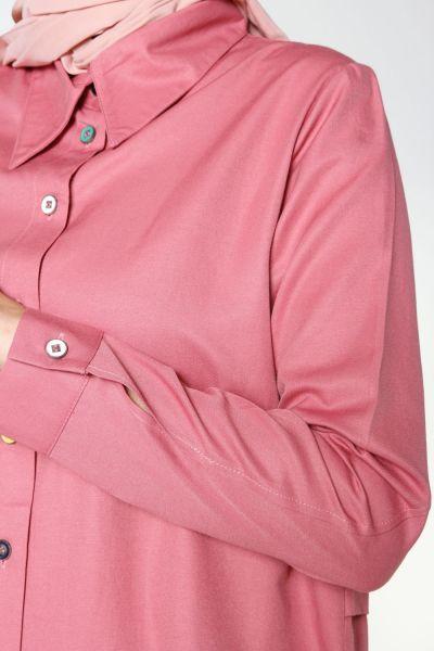 Renkli Düğmeli Tunik