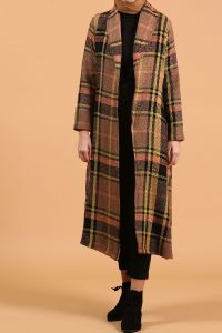 COLORFUL BELTED OVERCOAT