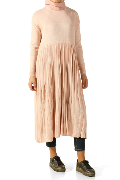 PLEATED KNITWEAR TUNIC