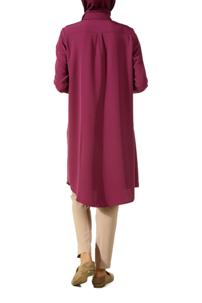 ROBASI METAL PUSCULAR FRONT PACKED TUNIC