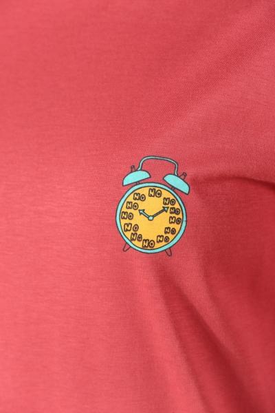 Saat Baskılı Penye Tunik