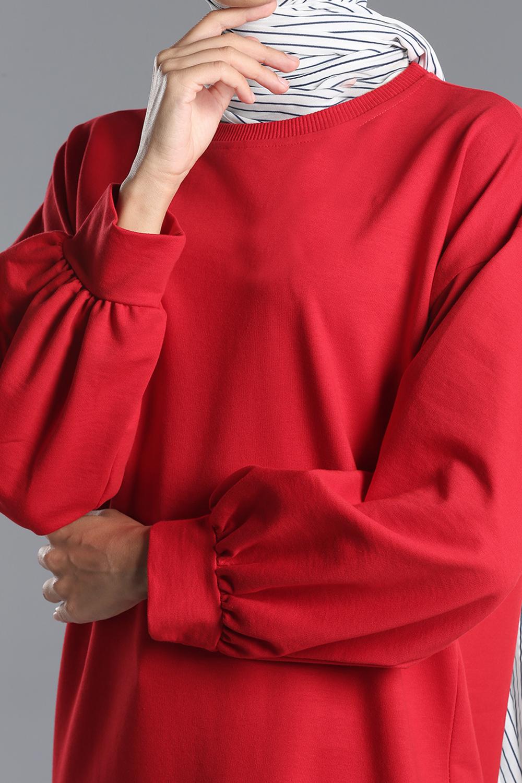 Pamuklu Basic  Sweat Tunik