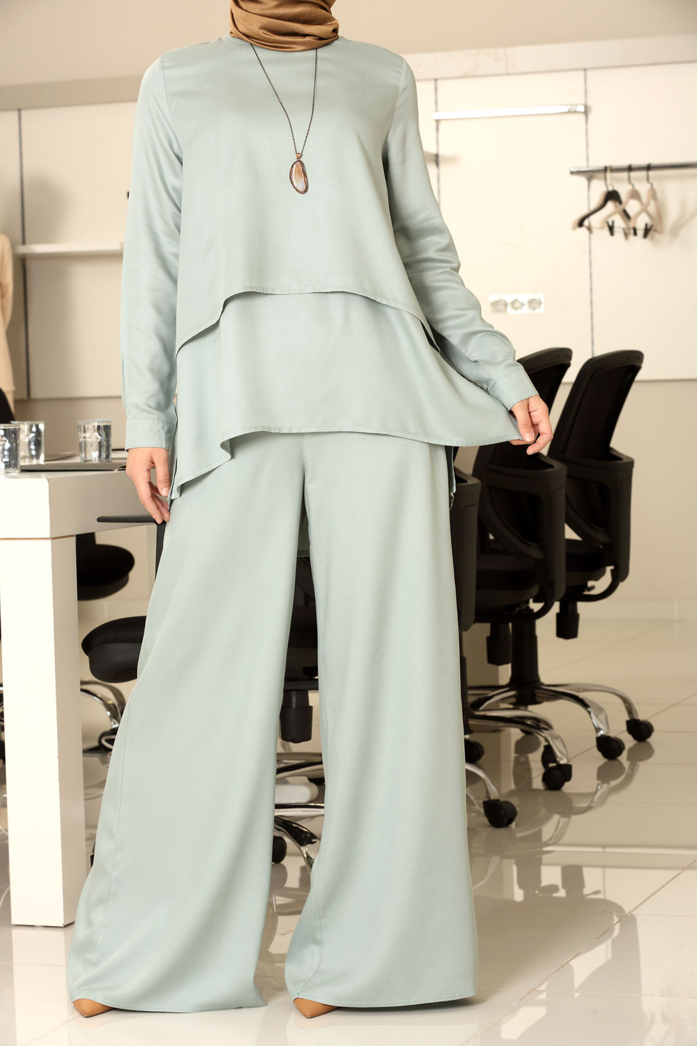 Natural Fabric Tunic & Pants Suit