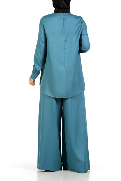 Natural Fabric Tunic & Pants Suit