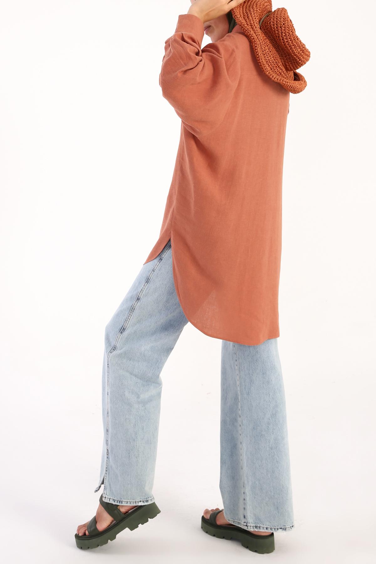 Comfy Linen Shirt Tunic