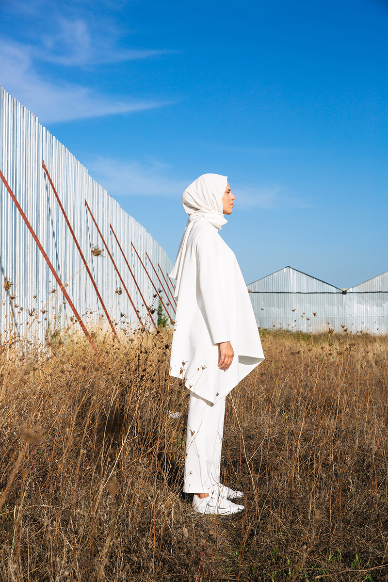 Pocket Hijab Suit With Pants