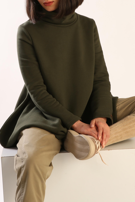 Stand-away Collar Comfy Tunic
