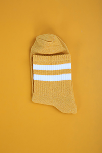 Stripe Patterned College Socks