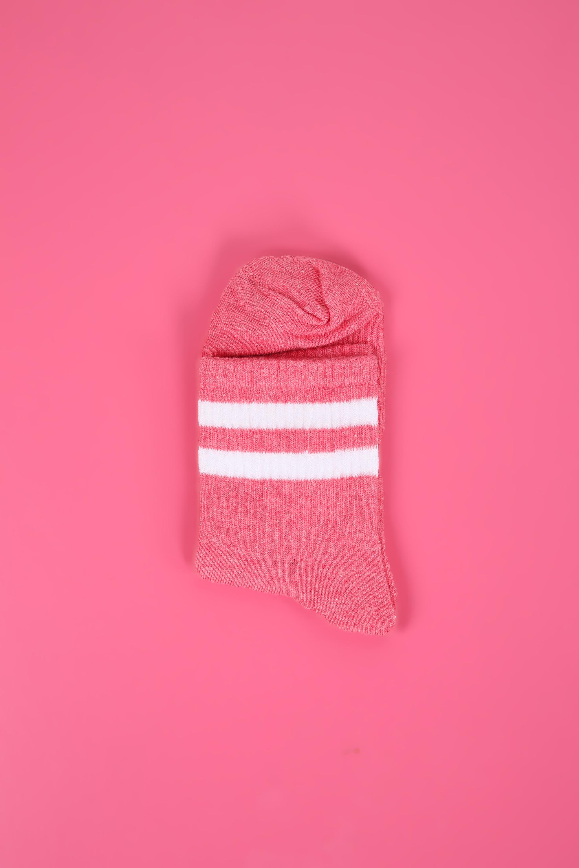 Stripe Patterned College Socks