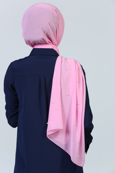 SOLID COLOR CHIFFON SHAWL