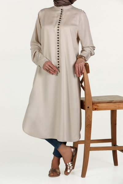 BIG SIZE TUNIC WITH FREQUENT BUTTON