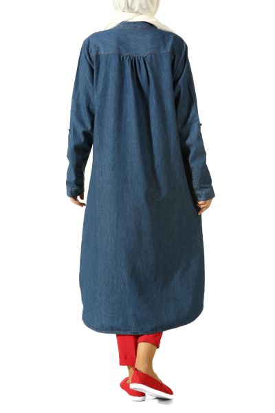 DENIM TUNIC WITH BUTTONS