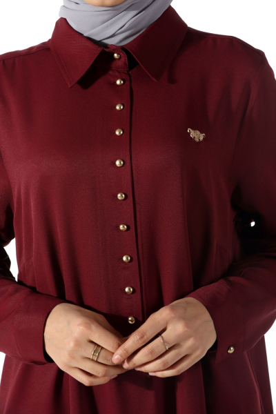 Sık Düğmeli Elbise