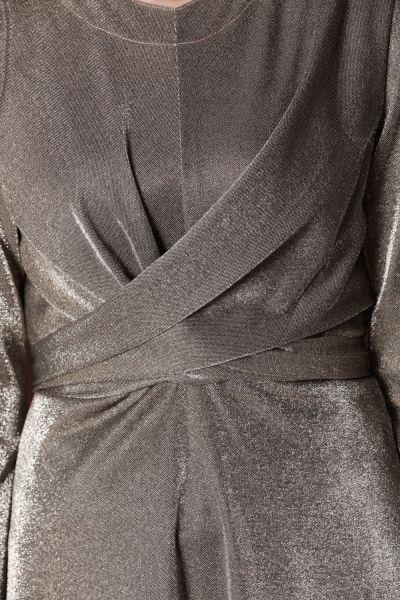 SILVERY HIJAB EVENING DRESS
