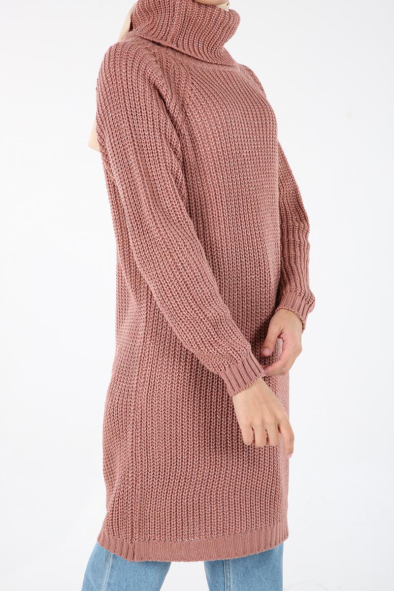 Silvery Knitwear Tunic