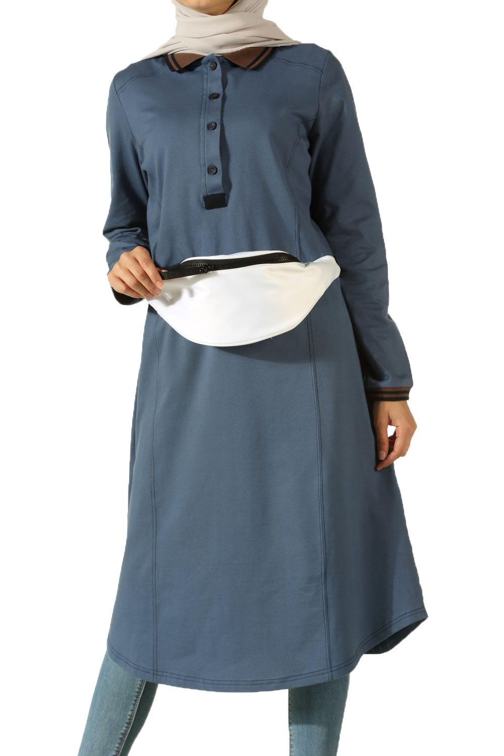 LACOSTE TUNIC WITH SEVERAL EMBROIDERED RIBANAL