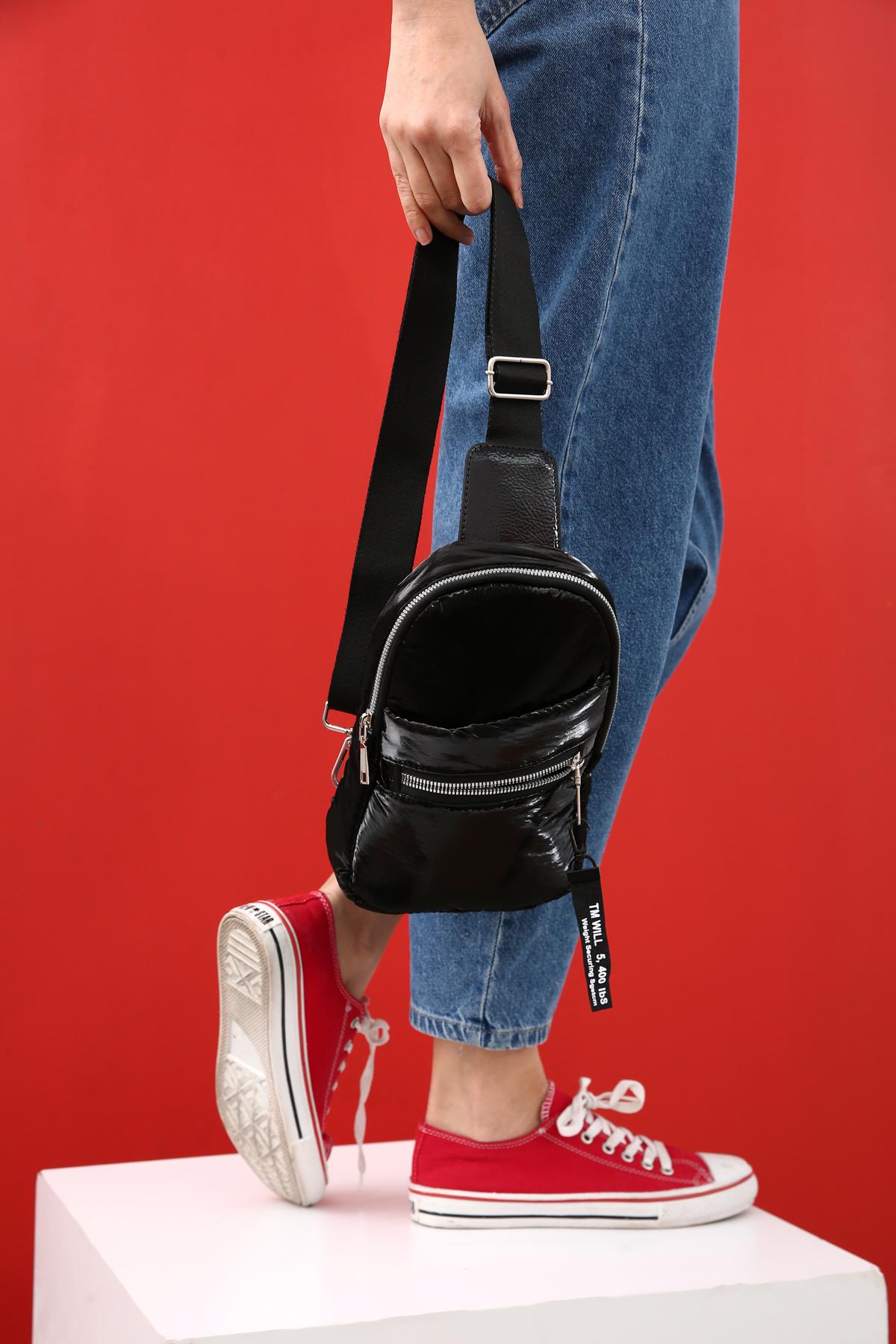 Zippered Shoulder Bag