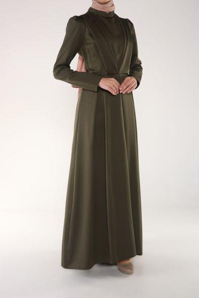 Som Fashion Kemerli Astarlı Elbise