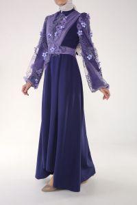 Som Fashion Kolları Tül Astarlı Abiye