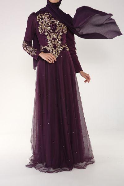 Som Fashion Pul İşleme Tüllü Abiye