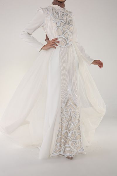 Som Fashion Pul Payet Tüllü Abiye