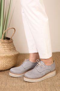 Süet Taşlı Ayakkabı
