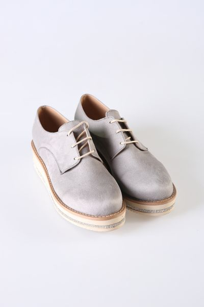 SUEDE STONE SHOES