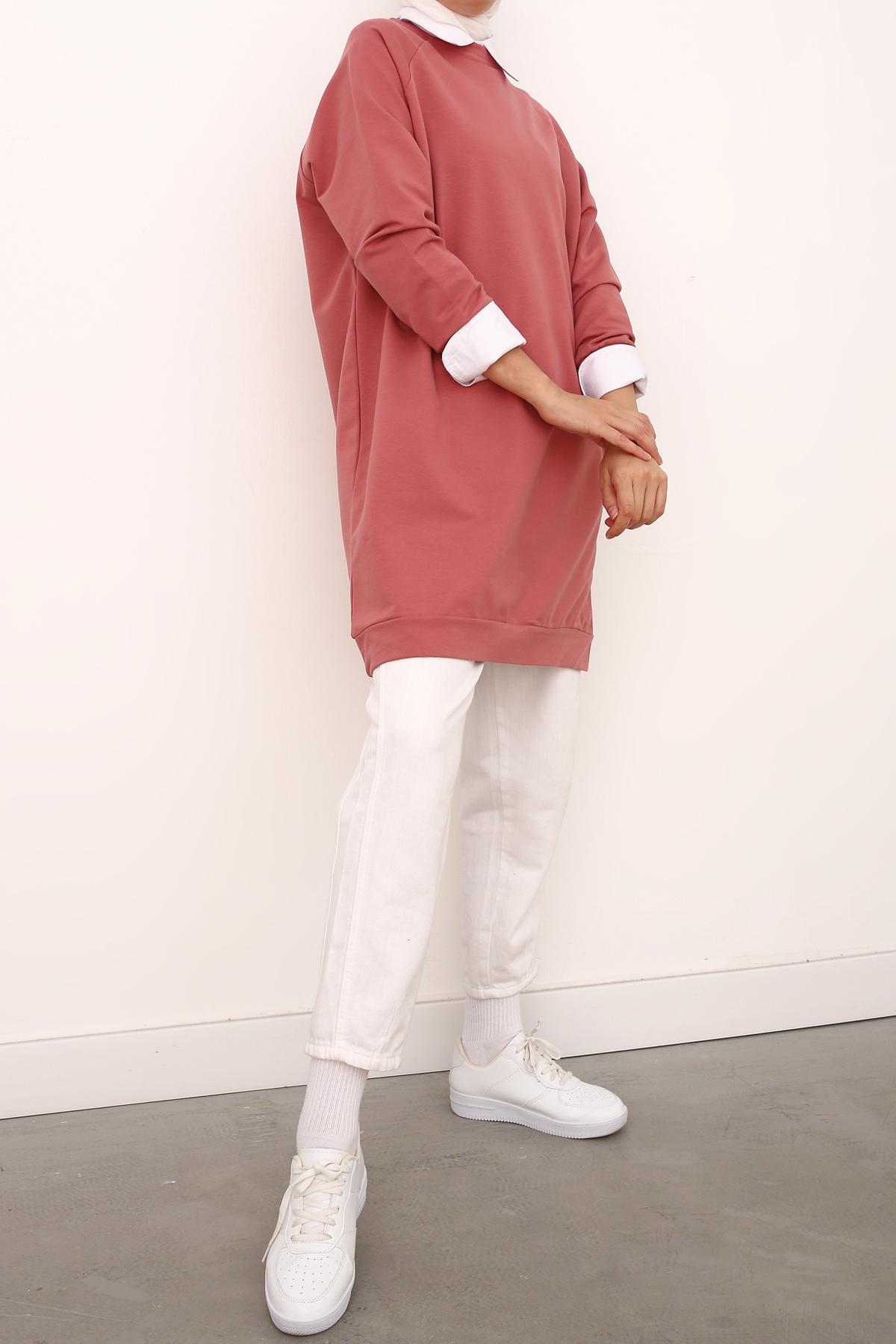Raglan Sleeve Sweatshirt Tunic