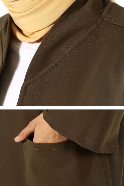 T Sleeve Cardigan with Pocket