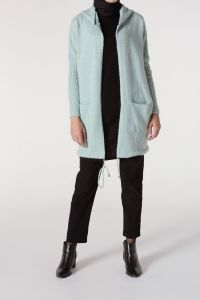 T-SLEEVE HOODED CARDIGAN