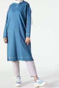 T-SLEEVE HOODED TUNIC