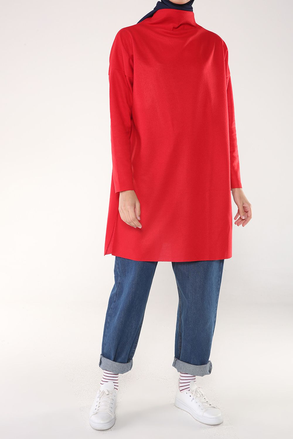 T-SLEEVE SPLIT TUNIC