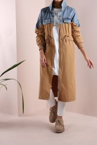 COTTON DENIM TRENCH COAT