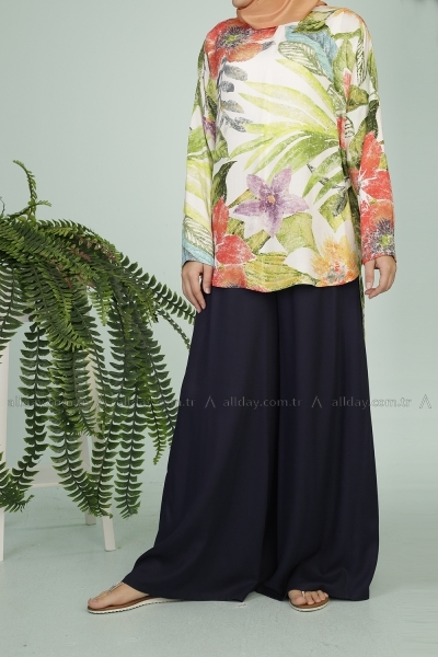 Patterned Blouse & Trouser Team