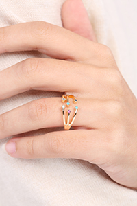 Colorful Stones Ring