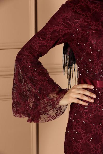 Taşlı Balık Model Abiye Elbise