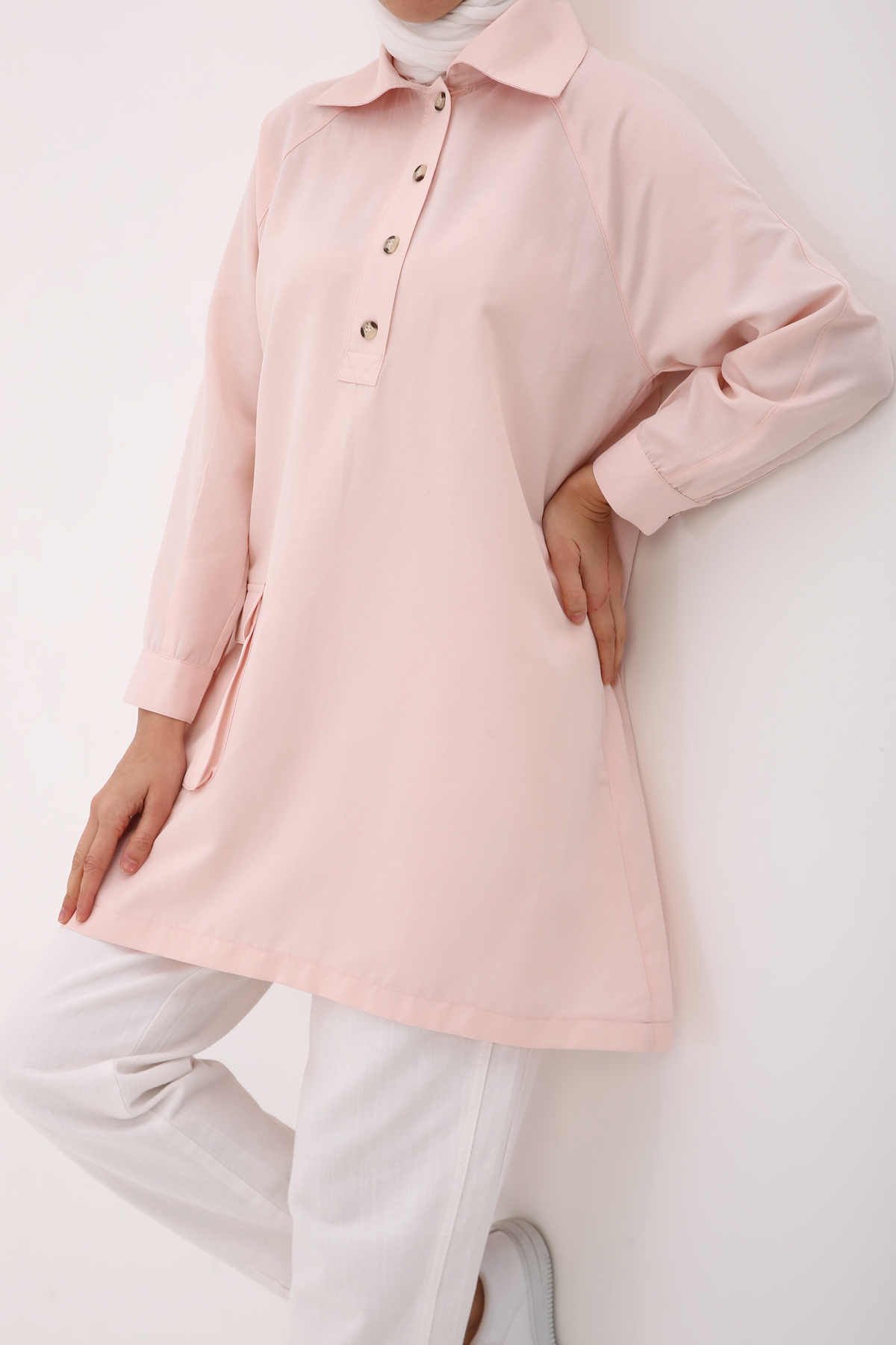 Pocket and Button Detailed Tunic