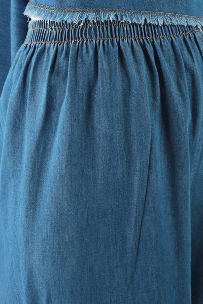 Püsküllü Denim Pantolonlu İkili Takım