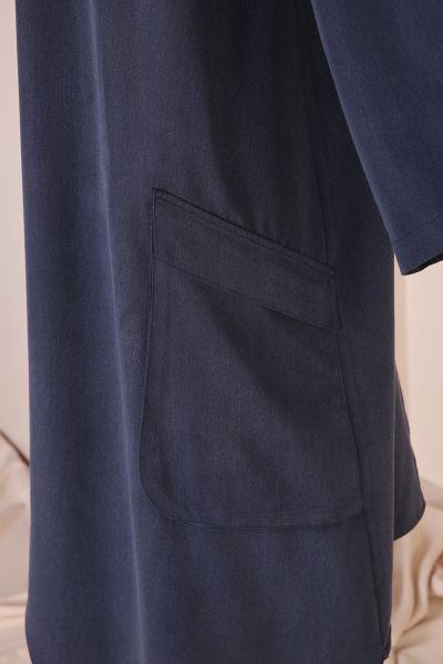 Tensel Asimetrik Kesim Pantolonlu Takım
