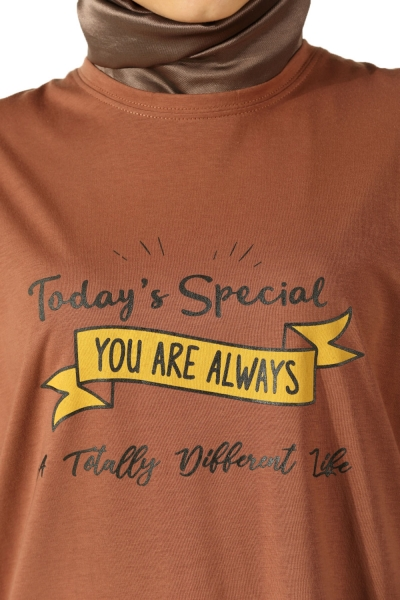 Today's Special Baskılı Penye Tunik