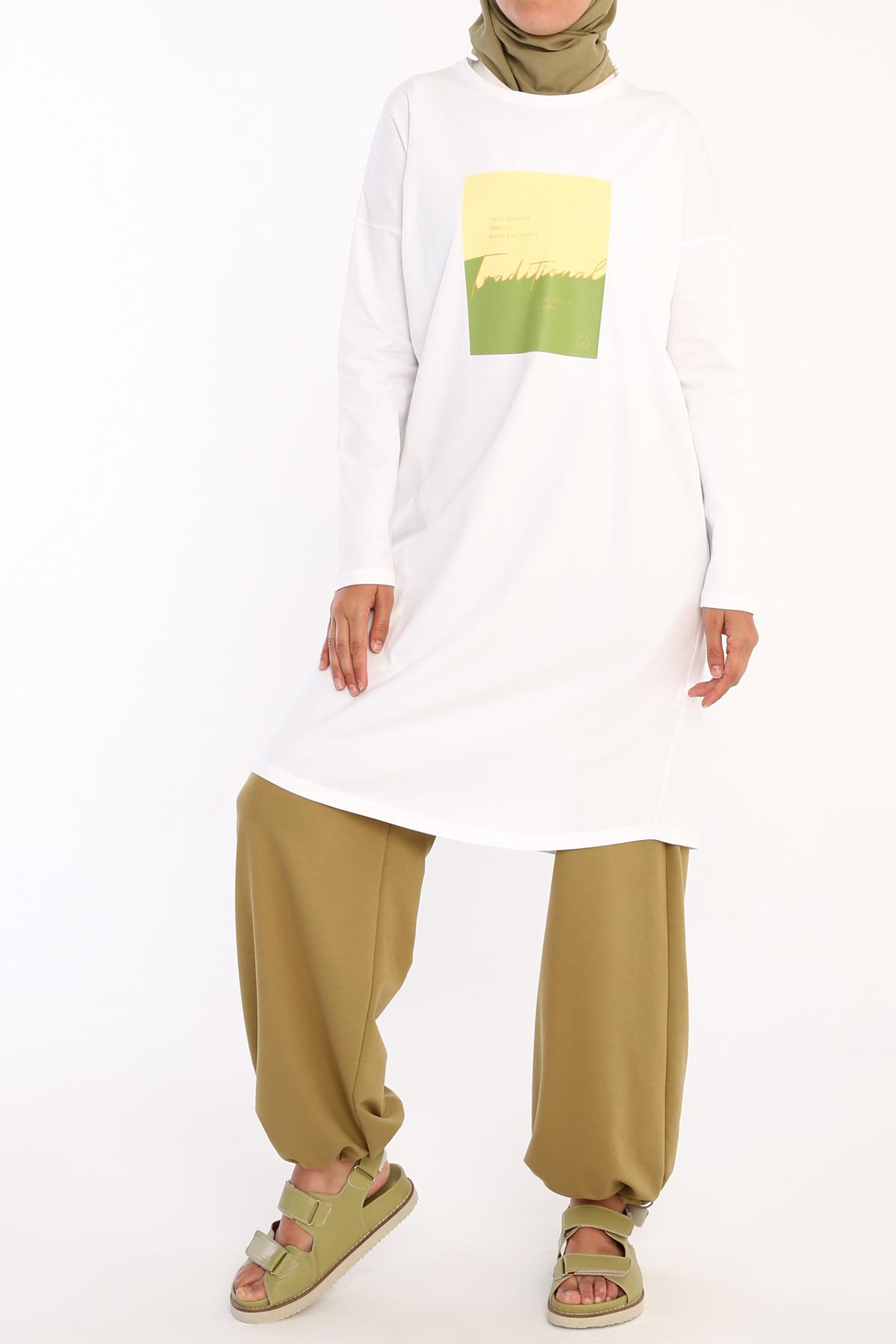 Traditional Printed T-shirt Tunic
