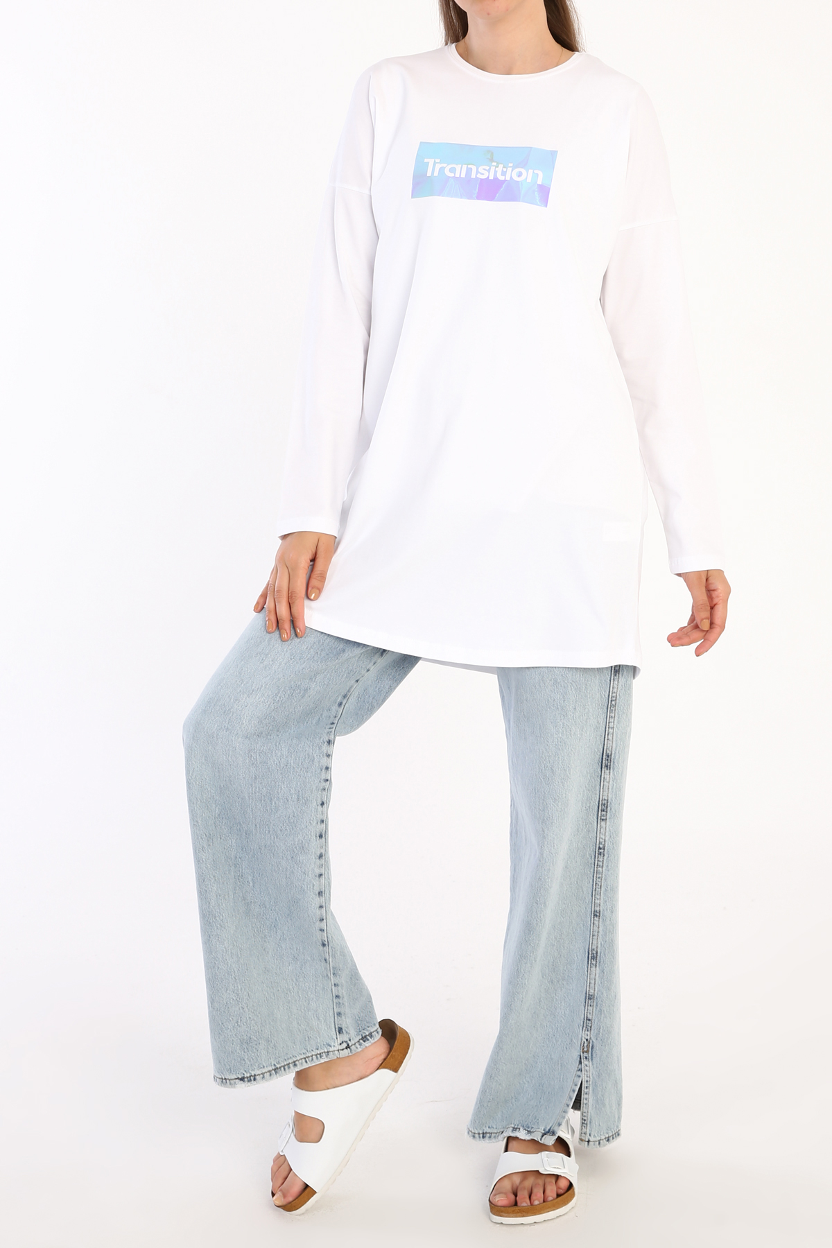 Comfy Transition Printed Long Sleeve T-Shirt Tunic