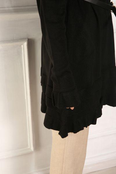 Triko Eteği Fırfır Salaş Tunik