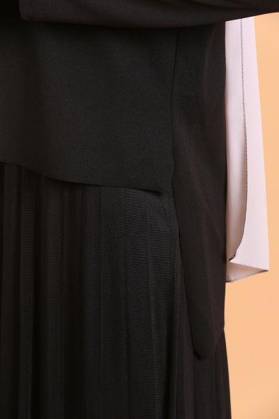 Tüllü Krep Elbise