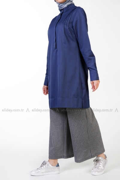 RIBBED YOKE TUNIC