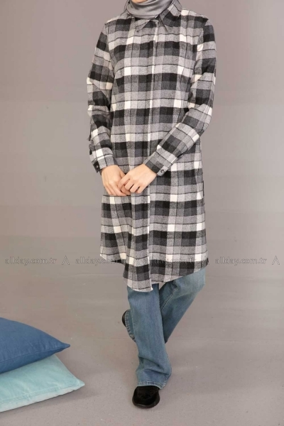 PLAID TUNIC