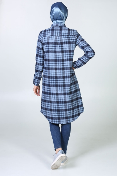 PLAID SHIRT TUNIC